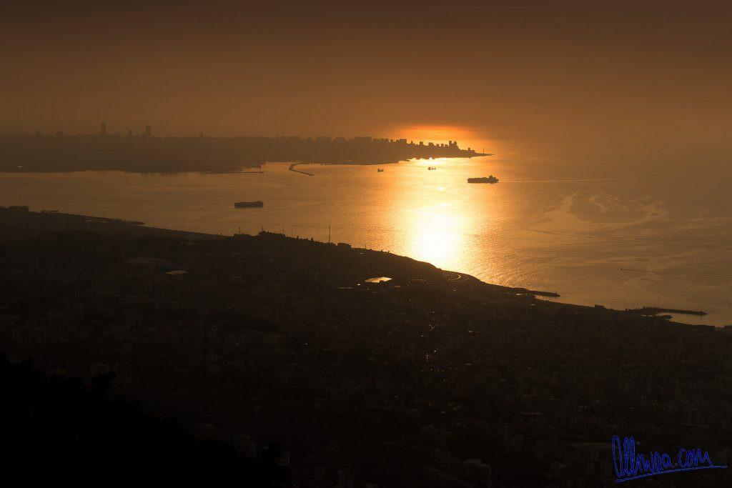 Beirut im Sonnenuntergang
